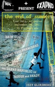 Poster for w4 Presents End of Summer Concert